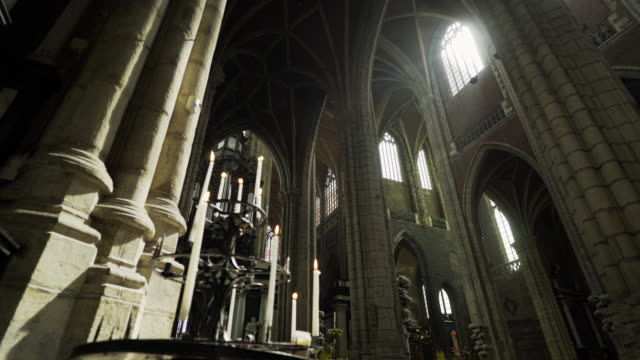 medieval cathedral - gothic architecture stock videos & royalty-free footage
