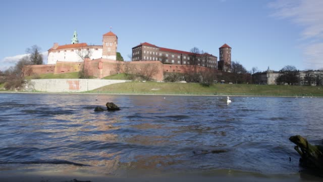 medieval fortified architectural complex of wawel сastle - polityka i rząd filmów i materiałów b-roll
