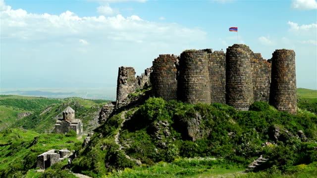 Medieval fortress Amberd in Armenia video