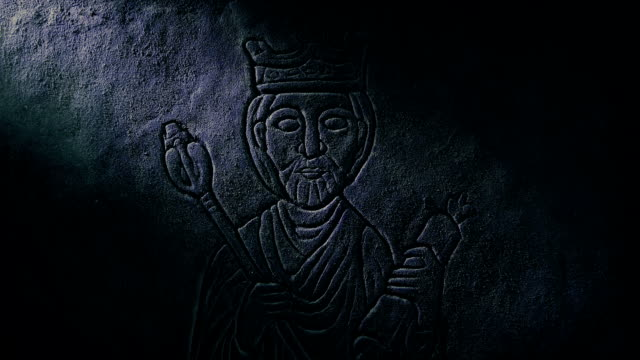 Medieval King Carving Revealed In Tomb video