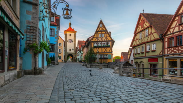 Medieval Town Rothenburg in Germany - Time Lapse