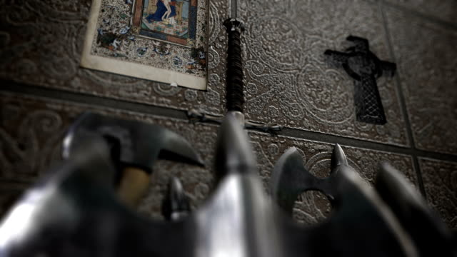 Medieval Weapon Inside A Church video