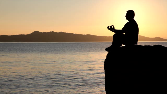 Meditation At The Sunset