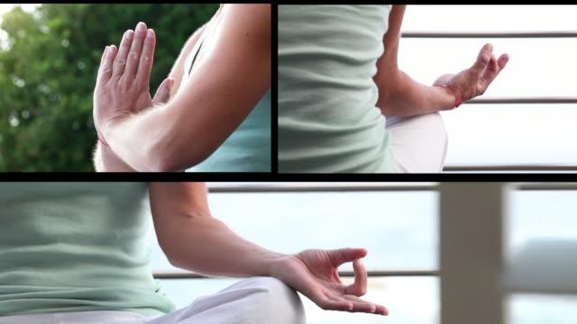 Meditation split screen montage video