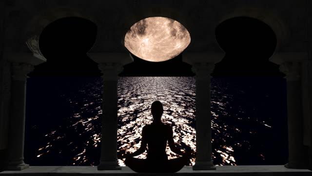 Meditation under the moonlight