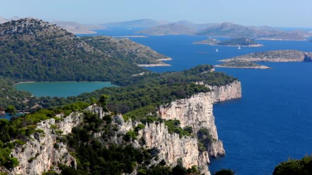 vidéos et rushes de côte méditerranéenne - lac salé