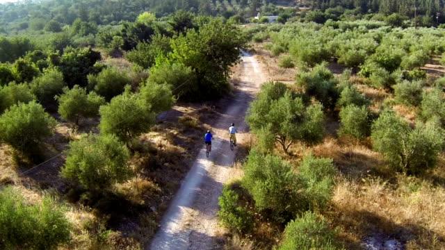 mediterraneo ciclismo rec - percorso per bicicletta video stock e b–roll