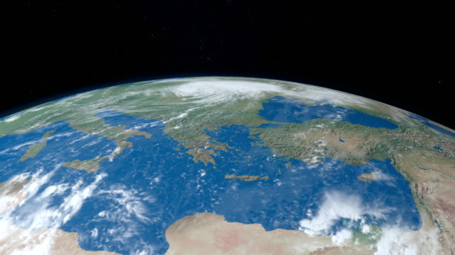 mediterranean sea, between africa and europe, in planet earth - libia video stock e b–roll