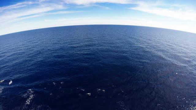 mar mediterraneo dal ponte di una nave - sky diving video stock e b–roll