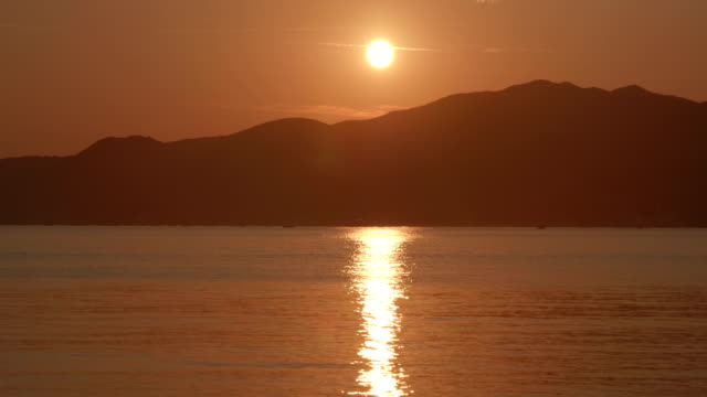 Mediterranean Sea Sunset - video
