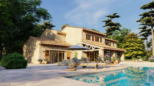 Mediterranean villa with pool and garden