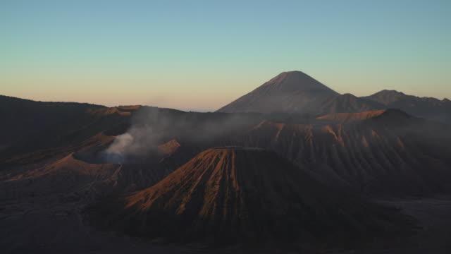 4K Medium shot, Beautiful of Mt.Bromo, Indonesia in the morning. video