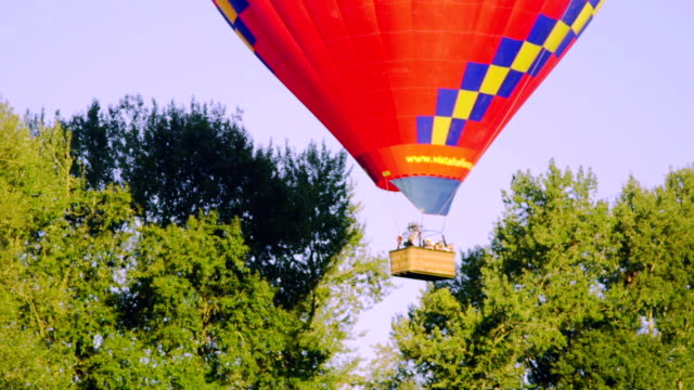 Medium shot of hot air balloon video