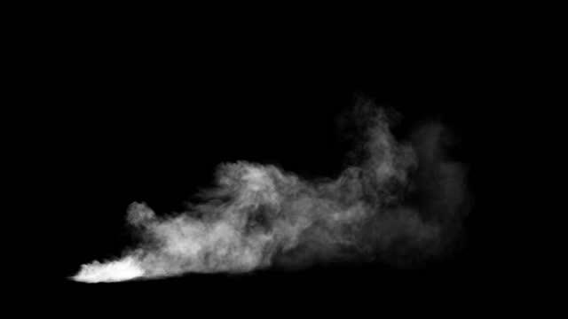 medelstor rökeffekt, lämplig för grundånga från vänster till höger - designelement bildbanksvideor och videomaterial från bakom kulisserna