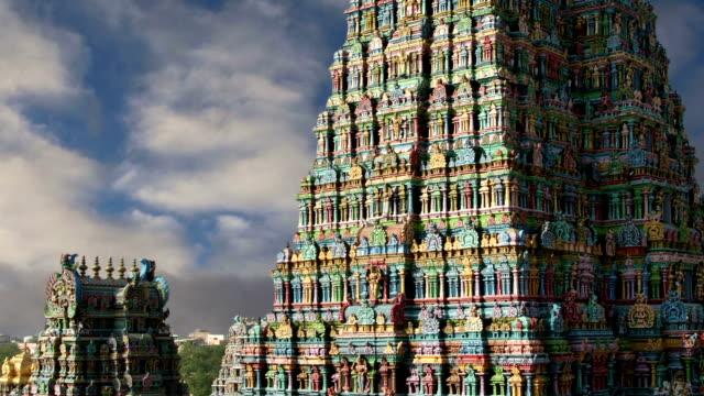 Meenakshi hindu temple in Madurai, Tamil Nadu, South India video