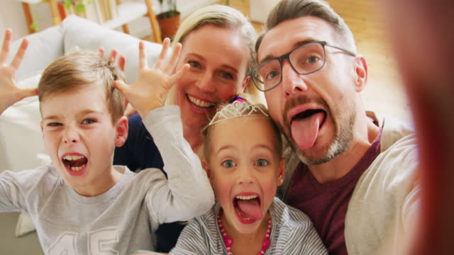 meet my crazy family - selfie stock videos & royalty-free footage