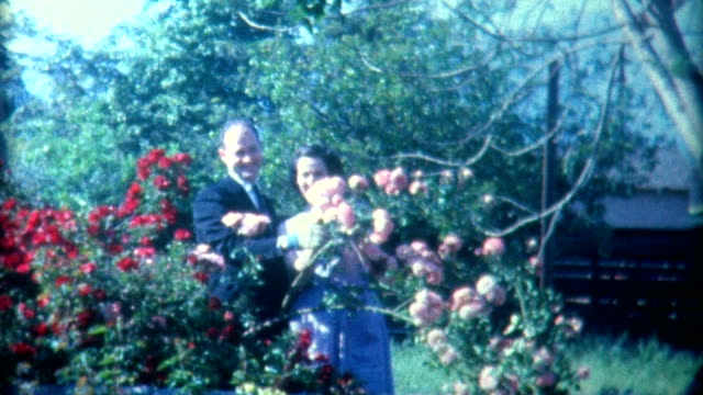die eltern den 1940 er jahren - verheiratet stock-videos und b-roll-filmmaterial