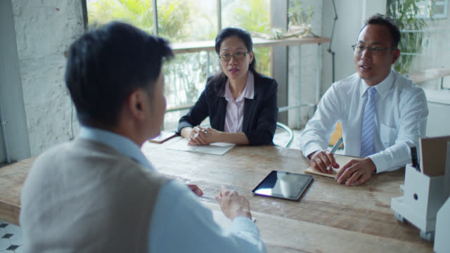 Meeting or Job Interview in Modern Taipei Office video