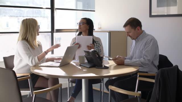 Meeting three people video