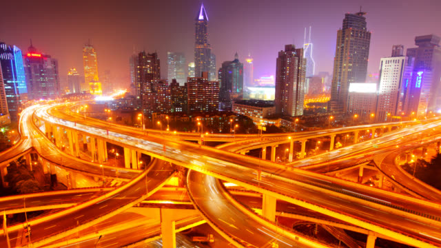 Megacity Highway in shanghai video