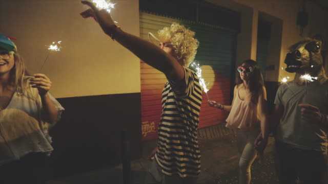 Megaparty: friends party wild in the streets video