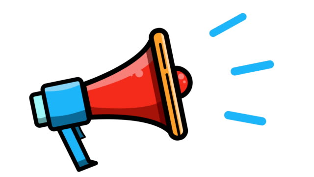Megaphone icon video animation. Attention sign animation. Business promotion Megaphone icon video animation. Attention sign animation. Business promotion megaphone stock videos & royalty-free footage