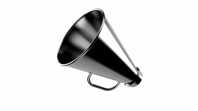 Megaphone Megaphone isolated on white background megaphone stock videos & royalty-free footage
