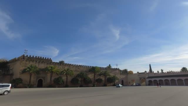 Meknes - Panoramic view of walls of Imperial Palace Dar El-Makhzen