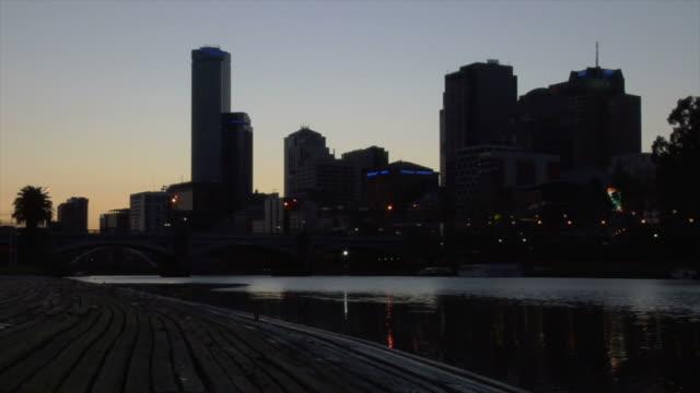 Melbourne Australia City time lapse Yarra HD video