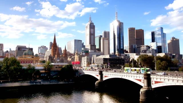 メルボルン オーストラリア hyperlapse - オーストラリア メルボルン点の映像素材/bロール