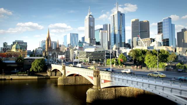 melbourne, australia - tranvia video stock e b–roll
