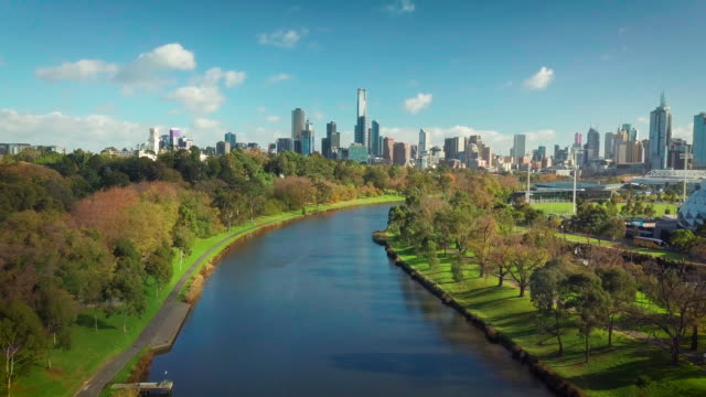 メルボルン市空撮 - オーストラリア メルボルン点の映像素材/bロール