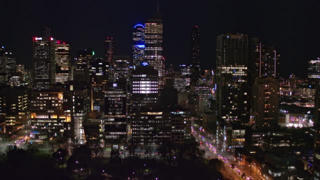 夜は、ビクトリアのメルボルン市 - オーストラリア メルボルン点の映像素材/bロール