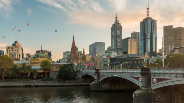 melbourne city skyline - melbourne stock videos & royalty-free footage