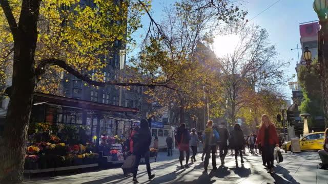 オーストラリアのビクトリア州メルボルンの街並み - オーストラリア メルボルン点の映像素材/bロール