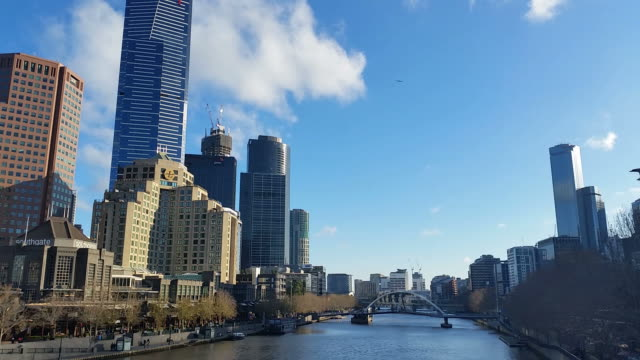 Melbourne City Victoria Australia - Yarra River video