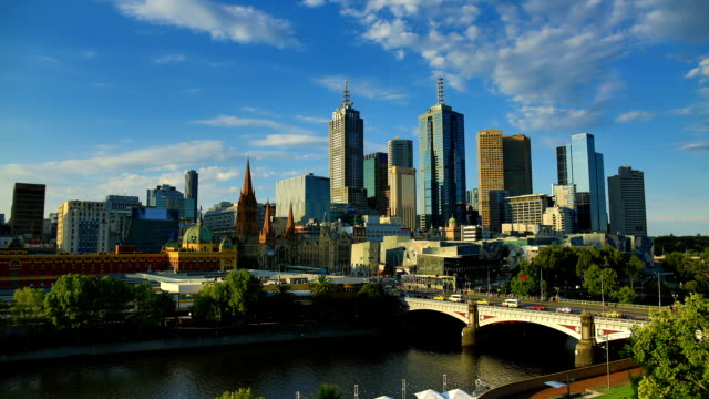 Melbourne: day to night time lapse video