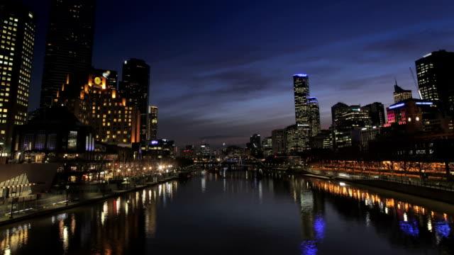 Melbourne Timelapse night HD video