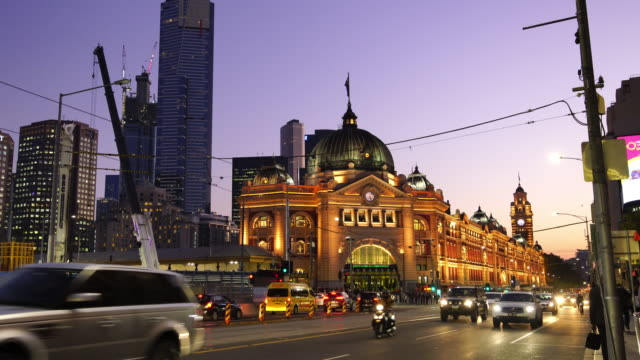 melbourne train station in australia - melbourne stock videos & royalty-free footage