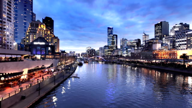melbourne yarra river timelapse - esposizione lunga video stock e b–roll