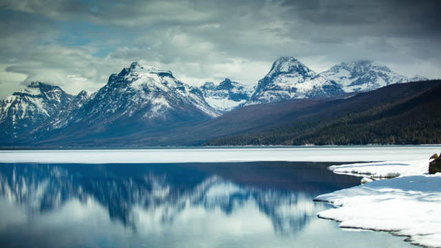 Melting Ice on Lake McDonald in Glacier National Park - Time Lapse