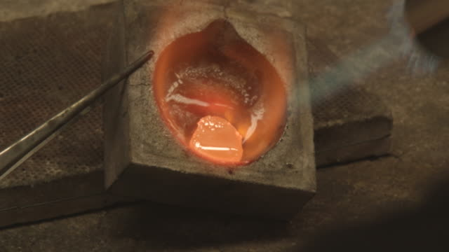 Melting Metal: Silver, Gold, with Gas Torch video