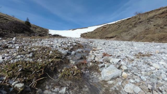 Melting snow in Spring, julian alps video