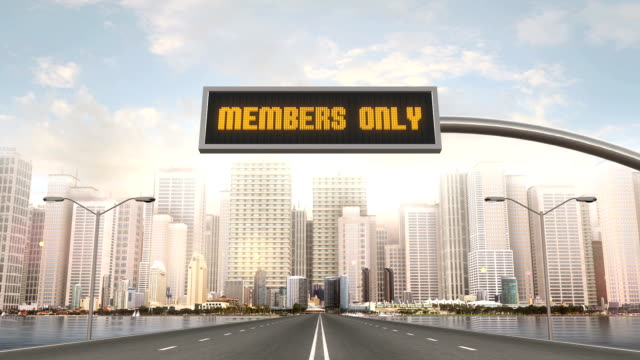Members Only Traffic Sign video