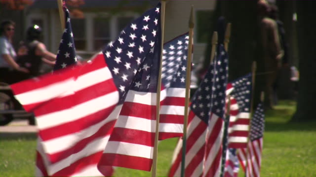 us memorial day. american culture. war, love, honor, patriotism. - memorial day stok videoları ve detay görüntü çekimi