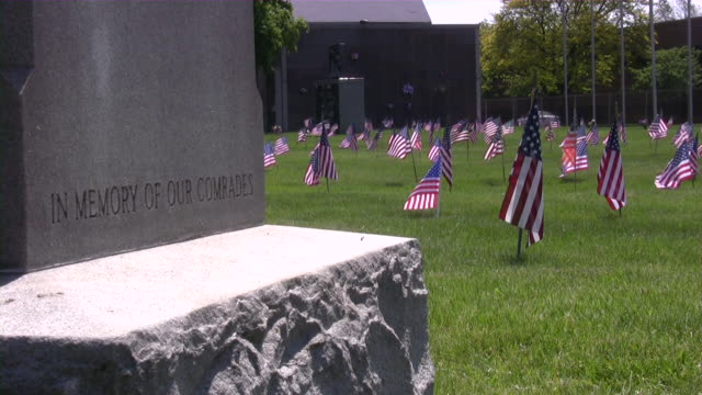 Memorial Day. American flag & culture. War Cemetery. Honor, Patriotism. video