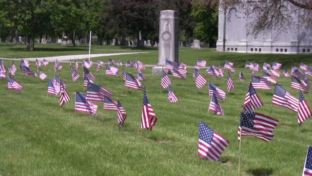 Memorial Day. American flag & culture. War Cemetery. Honor, Patriotism. video