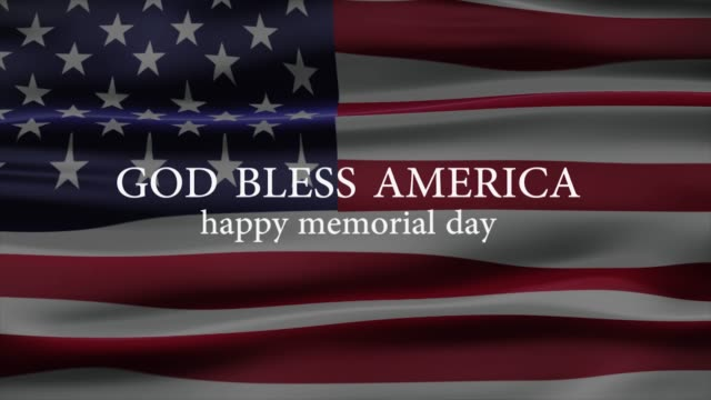 Memorial Day banner with