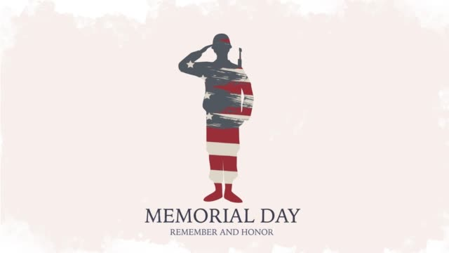 Memorial Day, Honoring all who served. USA soldier on 4K banner. American celebration. Memorial Day, Remember and honor. USA soldier on 4K banner. Amerian national celebration. memorial day stock videos & royalty-free footage