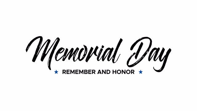 день поминовения. помни и честь. анимированное текстовое сообщение - memorial day стоковые видео и кадры b-roll